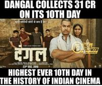 Records Ped Pe Nahi Ugte Unhe Aamir Khan Banata Hai :D  *Kryptonian: DANGAL COLLECTS 31CR  ONITS10TH DAY  FFICALi  AAMIR KHAN PRODUCTIONS'  i BOLLIIMOODTROLL  o a  23A DEC. 2016  HIGHEST EVER 10TH DAY IN  THE HISTORY OF INDIAN CINEMA Records Ped Pe Nahi Ugte Unhe Aamir Khan Banata Hai :D  *Kryptonian
