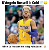D'Angelo Russell is cold 😨❄️ What do you think about him moving to the Nets? 🤔 Comment below! 👇 - Follow @Sportzmixes For More! 🏀 - Via: @takenankles: D'Angelo Russell Is Cold  TRS  Where Do You Rank Him In Top Point Guards? D'Angelo Russell is cold 😨❄️ What do you think about him moving to the Nets? 🤔 Comment below! 👇 - Follow @Sportzmixes For More! 🏀 - Via: @takenankles