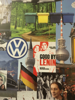 Someone at my school is bad in making collages.: DANİEL BRUHL  KATRIN SAS  GOOD BY  LENIN  WOLFGANG BECKER Someone at my school is bad in making collages.
