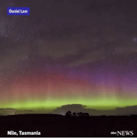 "Memes, News, and Wshh: Daniel Lam  Nile, Tasmania  obe NEWS ""Stunning timelapse video captures the bold, bright lights of the AuroraAustralis over Tasmania."" ⭐️✨ @abcnews WSHH"