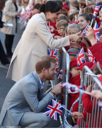 Britain's Prince Harry and Meghan, the Duchess of Sussex greet well-wishers during their visit to Chichester, England.: (Daniel Leal-Olivas/Pool via AP) Britain's Prince Harry and Meghan, the Duchess of Sussex greet well-wishers during their visit to Chichester, England.