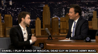 """<p><a href=""""http://v"""" target=""""_blank"""">Daniel Radcliffe&rsquo;s latest film is a &ldquo;buddy comedy movie where one of the buddies is dead.&rdquo;</a><br/></p>: DANIEL: PLAY A KIND OF MAGICAL DEAD GUY IN [SWISS ARMY MAN]. <p><a href=""""http://v"""" target=""""_blank"""">Daniel Radcliffe&rsquo;s latest film is a &ldquo;buddy comedy movie where one of the buddies is dead.&rdquo;</a><br/></p>"""