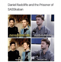 daniel radcliffe is a national treasure: Daniel Radcliffe and the Prisoner of  SASSkaban  Wo gave your Wand to Dani  Yoah, I profor mino, Mino was moro  recently to hold Ho didn't your wand  sort o rough-howned from a troo  What Is thls?lkoa?  NOOOOOOOI daniel radcliffe is a national treasure