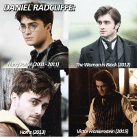 inspo for this comes 100% from @inweasleywetrust !! - danielradcliffe harrypotter movie: DANIEL RADOLIFFE  LUNASTHESTRALS  Harry Potter 200  The Woman in Black (2012)  Victor Frankenstein (2015)  Homs 2013) inspo for this comes 100% from @inweasleywetrust !! - danielradcliffe harrypotter movie