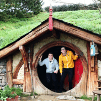 Tumblr, Blog, and Hobbit: danielhowell:two tol lads in one smol hobbit hole