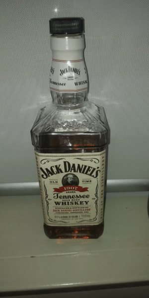 Shaking it up from the usual vodka: DANIHL'S  D'S  AKHONES  1907  Tennessee  BRAND  WHISK  DANIELS  JACK  TIME  OLD  1907  BRAND  Jennessee  SOUR MASH  WHISKEY  DISTILLED&BOTTLED BY  JACK DANIEL DISTILLERY  LYNCHBURG, TENNESSEE, USA  37% ALCOHOL BY VOLUME | 700mL  PRODUCT OF THE U.S.A  Q TALITY &  CRAF Shaking it up from the usual vodka