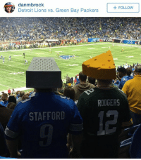 RivalryGoals: danmbrock  FOLLOW  Detroit Lions vs. Green Bay Packers  81  RODGERS  STAFFORD RivalryGoals
