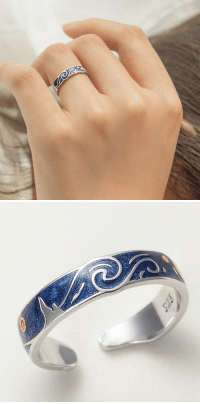 Beautiful, Cute, and Family: danxxxi:  greenglitchbitch: babyblue65:   analyticalsenshi:  belle-bucholtz:  cute-aesthetics-things:  Beautiful and Unique Van Gogh's Glitter Sky Ring. A Lovely and truly Wonderful Gift For Your Friends and Family! = GET YOURS HERE =  If someone buys me this I will marry you. Just kidding please don't buy me anything.   Fuck I need this so much   Its so pretty!!! 😍😍😍   I freaking love Starry Night!!! It's my favorite painting ever, by my favorite painter ever!   anyone who gets this 4 me is auto married