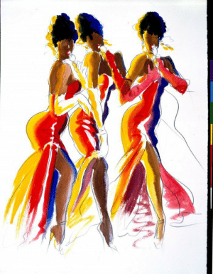 Tumblr, American, and Blog: dar-a:dreamgirls by antonio lopez american vogue 1977