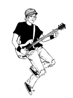 Tumblr, Blog, and Patrick Stump: darbydraws:inktober day 16 feat. patrick stump circa 2003