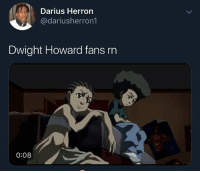 Dwight Howard, Funny, and Make a Wish Foundation: Darius Herron  @dariusherron1  Dwight Howard fans rn  0:08 The only fans he have are from the Make a Wish foundation @larnite • ➫➫➫ Follow @Staggering for more funny posts daily!