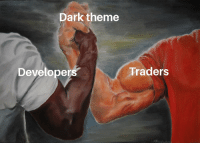 Crypto Chad and Kevin Web dev are united!: Dark theme  Developers  Traders Crypto Chad and Kevin Web dev are united!