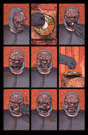 Darkseid goes on diet.: Darkseid goes on diet.