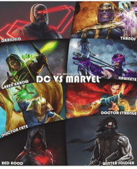 Batman, Doctor, and Memes: DARKSEID  THANOS  HAWKEYE  GREEN ARROW  DOCTOR STRANGE  DOCTOR FATE  RED HOOD  WInTER SOLDIER Who wins the war ? DC or MARVEL? By @dc.marvel.jpg dc dccomics dceu dcu dcrebirth dcnation dcextendeduniverse batman superman manofsteel thedarkknight wonderwoman justiceleague cyborg aquaman martianmanhunter greenlantern theflash greenarrow suicidesquad thejoker harleyquinn catw3