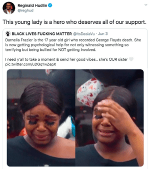 Darnella Frazier - she deserves our thanks and support! by elch3w MORE MEMES: Darnella Frazier - she deserves our thanks and support! by elch3w MORE MEMES