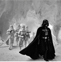 Darth Vader invading the rebel base on Hoth StarWars: Darth Vader invading the rebel base on Hoth StarWars
