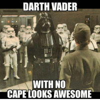 Thoughts?? -Dean: DARTH VADER  WITH NO  CAPE LOOKSAWESOME Thoughts?? -Dean