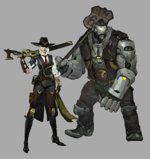 Tumblr, Blog, and Http: darthputa:  Ashe and Bob concept art from Blizzcon 2018