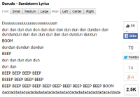"Target, Tumblr, and Twitter: Darude Sandstorm Lyrics  Font: Small Medium Large Align: Left Center Right  86 |  Gilla  70  dun dun dun dun dun dun dun dun dun dun dun dundun dun  dundundun dun dun dun dun dun dun dundun dundun  BOOM  dundun dundun dundun  BEEP  dun dun dun dun dun  dun dun  BEEP BEEP BEEP BEEP  BEEEP BEEP BEEP BEEP  BEEP BEEP BEEP BEEP BEEP BEEP BEEP BEEP BEEP BEEP BOOM  daddaddadadsadadadadadadadadadaddadadadadadaddadadaddada  Twitter  14  8+1  2.5K <p><a href=""http://australianpikachu.tumblr.com/post/118050682677"" class=""tumblr_blog"" target=""_blank"">australianpikachu</a>:</p>  <blockquote><figure class=""tmblr-embed tmblr-full"" data-provider=""youtube"" data-orig-width=""540"" data-orig-height=""304"" data-url=""https%3A%2F%2Fwww.youtube.com%2Fwatch%3Fv%3Dy6120QOlsfU""><iframe width=""540"" height=""304"" id=""youtube_iframe"" src=""https://www.youtube.com/embed/y6120QOlsfU?feature=oembed&amp;enablejsapi=1&amp;origin=https://safe.txmblr.com&amp;wmode=opaque"" frameborder=""0""></iframe></figure></blockquote>"