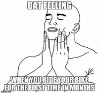 after an injury plagued summer i got out on my bike for the first time this weekend.   dis shit be good: DAT FEELING  l  WHEN YOURIDEVOURBIKE  FOR THE  FIRST TIME IN MONTHS after an injury plagued summer i got out on my bike for the first time this weekend.   dis shit be good