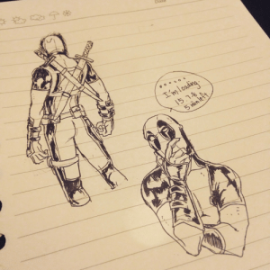"axiaspideypool: axiaspideypool:  drsquee:  axia-spideypool:  axia-spideypool:  I'm going to draw a lot of Deadpool until there is no space left. Stick with me   I lost my correction pen and Deadpool on the right bottom is being aggressive because I dont believe him when he says i'm gonna pass the exam   aggressive support is always funny cause people are like ""YES YOU WILL DO THE THING GO YOU EEEE!"" and your like ""ok jesus just chill the fuck out I believe you wtsf?""  but i aggressively don't believe him i am so prepared for resit.     I still haven't found my correction pen but I think I'm done : Datu  'm looding  15,7%  0 axiaspideypool: axiaspideypool:  drsquee:  axia-spideypool:  axia-spideypool:  I'm going to draw a lot of Deadpool until there is no space left. Stick with me   I lost my correction pen and Deadpool on the right bottom is being aggressive because I dont believe him when he says i'm gonna pass the exam   aggressive support is always funny cause people are like ""YES YOU WILL DO THE THING GO YOU EEEE!"" and your like ""ok jesus just chill the fuck out I believe you wtsf?""  but i aggressively don't believe him i am so prepared for resit.     I still haven't found my correction pen but I think I'm done"