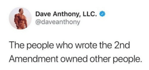 Target, Tumblr, and Blog: Dave Anthony, LLC.  @daveanthony  The people who wrote the 2nd  Amendment owned other people. liberalsarecool:Amending their words is allowed. Regulating their gun rights is implicit.