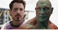 """Iron Man, Memes, and Robert Downey Jr.: Dave Bautista hopes to share screentime as Drax with Robert Downey Jr.'s Tony Stark in the future of the Marvel Cinematic Universe: """"I want to work with Robert Downey Jr. He's Iron Man. He's Tony Stark, man. He's the guy!"""" http://tinyurl.com/z4re8c4  (Brian)"""