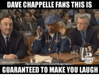 David: DAVE CHAPPELLE FANS THISIS  Alex's Politically Incorr  facebook.com/boombapnation  GUARANTEED TO MAKE YOU LAUGH
