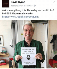 HI TM DAVID BYRNE AND I'M PROUD OF YOU | David Byrne Meme on ME ME