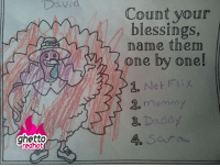 """Ghetto, Thanksgiving, and Http: David  Count your  name them  one by one!  2. Net Flix  2. momam  blessings,  2  ghetto  edhot  4. Sar <p><strong>Count your blessings</strong></p><p><a href=""""http://www.ghettoredhot.com/thankful-for-thanksgiving/"""">http://www.ghettoredhot.com/thankful-for-thanksgiving/</a></p>"""