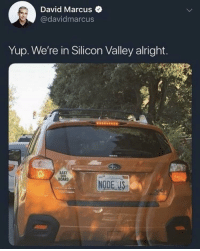 Alright, Baby, and Board: David Marcus  @davidmarcus  Yup. We're in Silicon Valley alright.  BABY  BOARD  NODE US Location location location