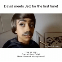 Goals, Memes, and My House: David meets Jett for the first time!  @davidxlizzako  year old vlog  Channel: David Dobrik  Name: He snuck into my house!! Wow wow this was a year ago • Liza has spelled jet-Jett both ways before so don't shoot me and my typo doshy diza DavidDobrik Liza lizzza LizaKoshy lizzzakoshy davidandliza davidandlizzza lizaanddavid lizzzaanddavid vine YouTube dizzzanators youtubers vloggers comedy couplegoals relationshipgoals goals