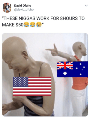 """Dank, Memes, and Target: David Ofuho  @david_ofuho  """"THESE NIGGAS WORK FOR 8HOURS TO  MAKE $50 Right in the bank balance by fjpeace MORE MEMES"""