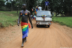 Beautiful, Braids, and Fucking: DAVID ROBINSON (O) 2012 between-stars-and-waves: becausedragonage:  watercolored-braids:  sloppy:  shapeandcolour:  This weekend, activists in Uganda - a country where homosexuality is punishable by death - held their first Pride.  This is the epitome of courage. I have no other words.    this is making me tear up holy shit   This makes me soo fucking proud most of us in places like Nigeria and Uganda especially northern Nigeria, the punishment by law is getting stoned to death if you show any signs of being gay. This makes me sad that Me and thousands of others can't be themselves but still, this is so FUCKING beautiful I am proud of the people of my African continent!  I just want to make it clear that the photo was taken, and the first Ugandan Pride was held, in 2012. Five years later they're still celebrating Pride. Despite the fact that they face police raids and arrests, they've made this an annual event.    This is heroic