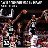 HBD to The Admiral : ⠀ 🤔 name a center w that agility & skill ⠀: DAVID ROBINSON WAS AN INSANE  7-FOOT CENTER  50  50  NDER HBD to The Admiral : ⠀ 🤔 name a center w that agility & skill ⠀