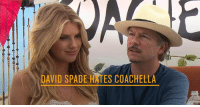 David Spade gives 'Baywatch' babe Charlotte Mckinney the third degree before she heads into the Coachella Festival for a weekend of sex, drugs, and rock 'n' roll.: DAVID SPADE HAES COACHELLA David Spade gives 'Baywatch' babe Charlotte Mckinney the third degree before she heads into the Coachella Festival for a weekend of sex, drugs, and rock 'n' roll.