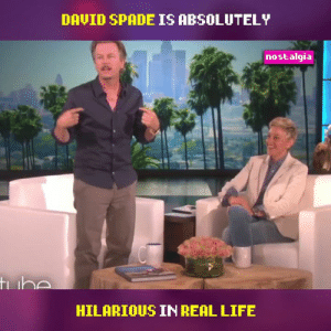 David Spade is never not funny. 😂: DAVID SPADE IS ABSOLUTELY  nostalgia  tibe  HILARIOUS IN REAL LIFE David Spade is never not funny. 😂