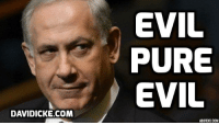 Memes, Protest, and Israel: DAVIDICKE.COM  EVIL  PURE  EVIL  ADDTEXT COM Hundreds of Israelis protest against Netanyahu policies http://bit.ly/2fPoXvQ #Israel #Netanyahu