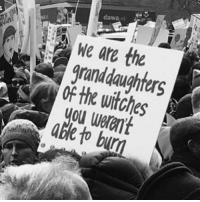 bur: dawa  e are the  grandaughters  of witches  ou weren't  Able to bur