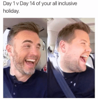 British, Account, and Day: Day 1 v Day 14 of your all inclusive  holiday. @studentproblems is actually my favourite account on IG😂