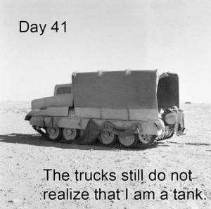 laughoutloud-club:  Just Some Truck: Day 41  The trucks still do not  realize that l am à tank laughoutloud-club:  Just Some Truck