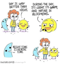 "Nature, Time, and Invest: DAY IS WAY DURING THE DAY,  BETTER THAN ITS LIGHT ITS WARM  IGHT. AND NATURE IS  BLOOMIWG.  NIGHT TIME  ISHENTAT  owLTURD.com (B) í/vo.citrinaer <p>INVEST?!?! via /r/MemeEconomy <a href=""https://ift.tt/2NwblFl"">https://ift.tt/2NwblFl</a></p>"