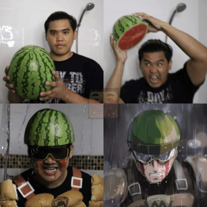 Lonelyman and his watermelon: DAY Lonelyman and his watermelon