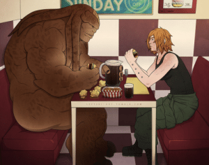 leftski-art:  A scene that hasn't happened in our sci-fi rpg yet but I'm determined to make sure it does. My character Sam and @sagelylegs 's Sharon Nova enjoying a retro diner dinner together: DAY  OFF  7.50  LEFTSKIART.TUMBLR.COM leftski-art:  A scene that hasn't happened in our sci-fi rpg yet but I'm determined to make sure it does. My character Sam and @sagelylegs 's Sharon Nova enjoying a retro diner dinner together