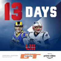 13 days until #SBLIII!  (by @thegrandtour) https://t.co/clf0QtRQcw: DAYS  16  SUPER BOWL  PRI ME O RI GIN A L  ONLY ON  SUPER BOWL  PRESENTED BY  L COUNTDOWNThe Grand Tour  prime video 13 days until #SBLIII!  (by @thegrandtour) https://t.co/clf0QtRQcw