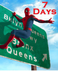 Love, Memes, and Spider: DAYS  BkIynueens  ueenS Seven days remain until Spider-Man: Homecoming is released in U.S. theaters.  (Nerds Love Art)