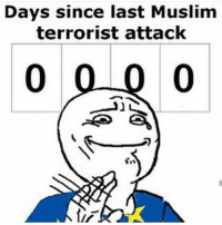 Conservative, Usa, and Add: Days since last Muslim  terrorist attack  0 0 0 0 Awwww. The timer resets. isisniggas isiskilledbiggie liberals libbys democraps liberallogic liberal ccw247 conservative constitution presidenttrump resist stupidliberals merica america stupiddemocrats donaldtrump trump2016 patriot trump yeeyee presidentdonaldtrump draintheswamp makeamericagreatagain trumptrain maga Add me on Snapchat and get to know me. Don't be a stranger: thetypicallibby Partners: @theunapologeticpatriot 🇺🇸 @too_savage_for_democrats 🐍 @thelastgreatstand 🇺🇸 @always.right 🐘 @keepamerica.usa ☠️ @republicangirlapparel 🎀 TURN ON POST NOTIFICATIONS! Make sure to check out our joint Facebook - Right Wing Savages Joint Instagram - @rightwingsavages Joint Twitter - @wethreesavages