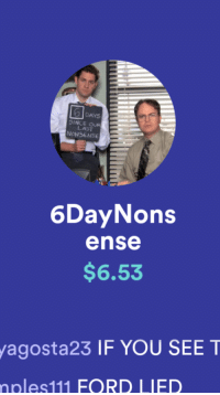 The Office, Ford, and Nonsense: DAYS  SINCE OUR  NONSENSE  LAST  6DayNons  ense  $6.53  agosta23 IF YOU SEE T  oles111 FORD LIED