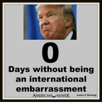 Pitiful [LK]: Days without being  an international  embarrassment  AMERICAN NEWSX  Laura C Keeling Pitiful [LK]
