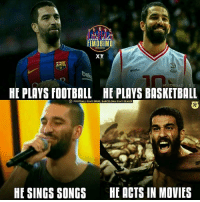 Barcelona, Drugs, and Memes: DBIMD  flMDBIMD  XY  FIMDBIMD  HE PLAYS fOOTBALL HE PLAYS BASKETBALL  FoOTBALL IS MY DRUG, BARCELONA IS MY DEALER  HE SINGS SONGS  HE ACTS IN MOVIES Arda Turan. The Complete Guy! 😂😂 🔻LINK IN OUR BIO! 😎⚽